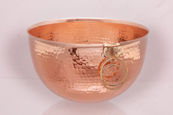 YÇK Series Copper Round Bottom Bowl for Whisking and Confectionery