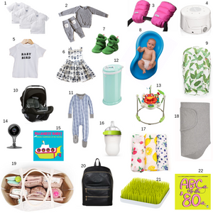 Pictures from baby shower gift guide by Worthy Threads, unique toddler clothing brand