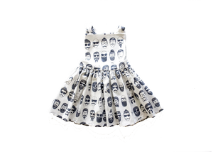 Beatnik pinafore dress by Worthy Threads, clothing brand for unique toddler clothes.