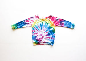 kids multi tie dyed raglan