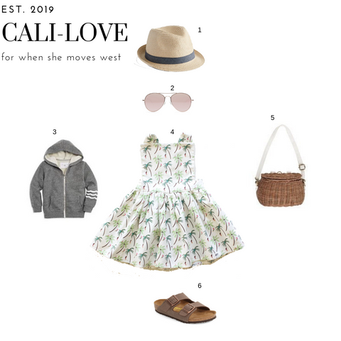 West coast inspired toddler girl outfit