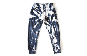 Adult black tie dye joggers: adult loungewear sets by Worthy Threads clothing brand