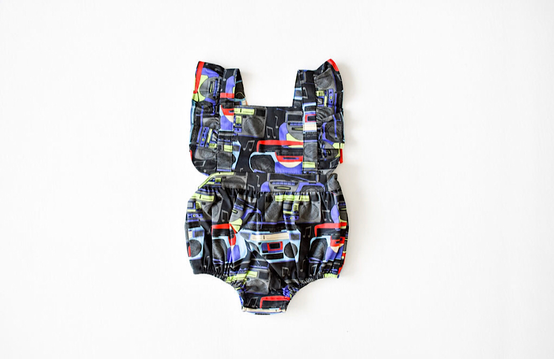 Baby bubble romper in boombox: unique baby clothes