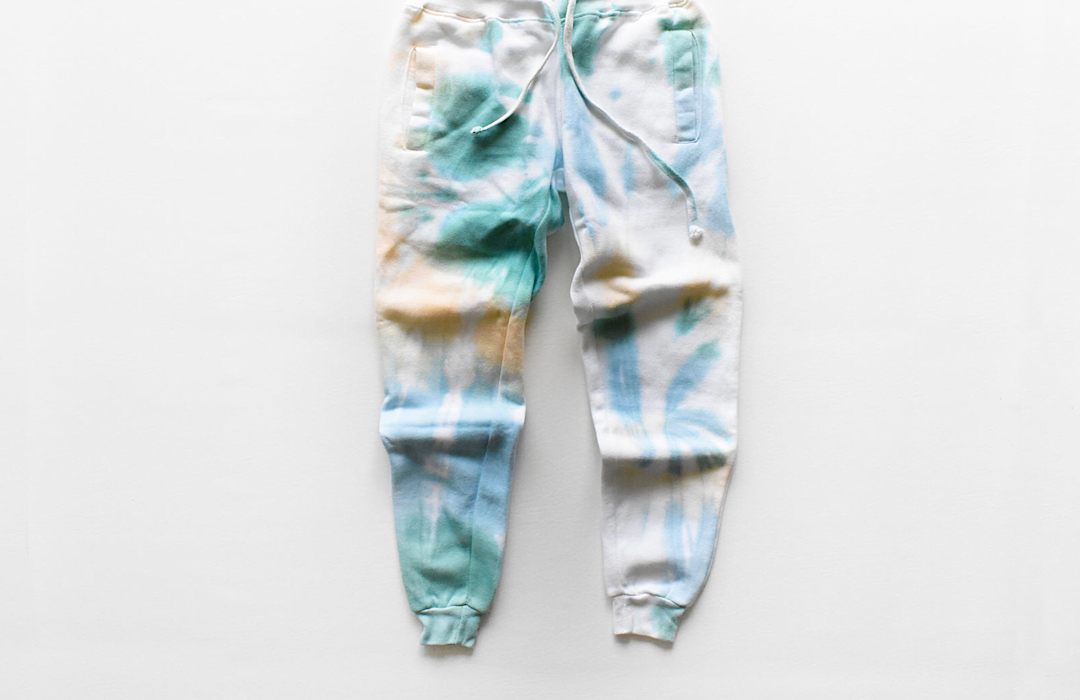 Adult tie dye joggers to match Mother's Day hoodie