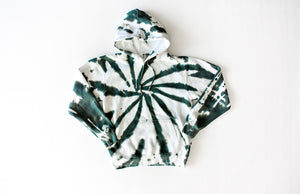 Tie dye hoodie sweatshirt in green: adult tie dye loungewear perfection!