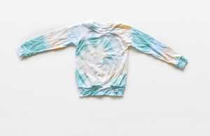 Kids tie dye raglan shirt to match Mother's Day hoodie