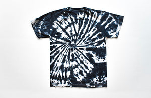 Adult tie dye t-shirt in black and white