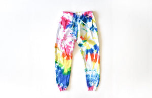 Adult tie dye loungewear: tie dye joggers in multi colors