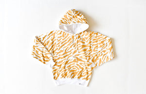 Adult hand painted tiger print hoodie
