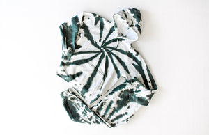 Tie dye loungewear set in green: tie dye hoodie and joggers
