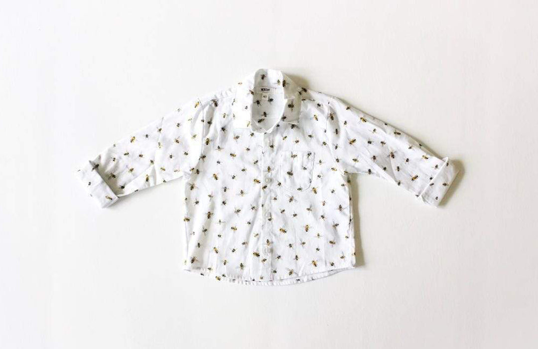 Baby & Toddler Button Down Shirt in Honey Bees