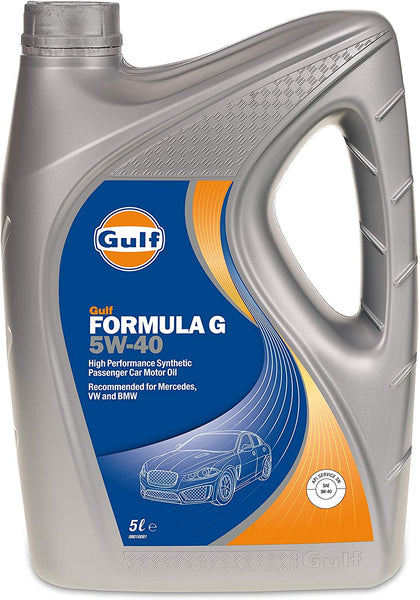 5L Gulf Formula G 5W-40 Fully Synthetic Oil