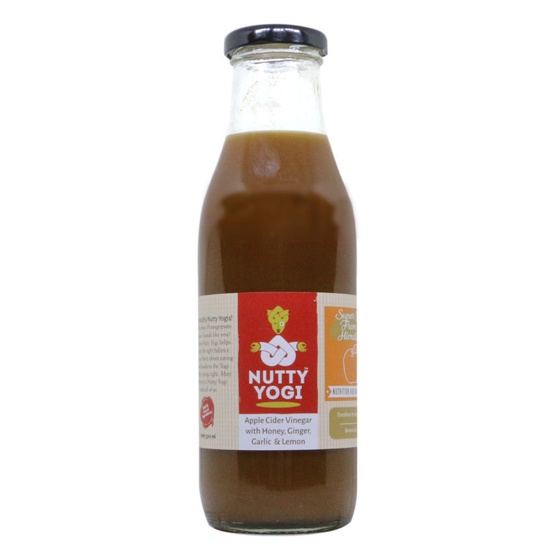 Apple Cider Vinegar with Honey, Ginger, Garlic and Lemon - Nutty Yogi