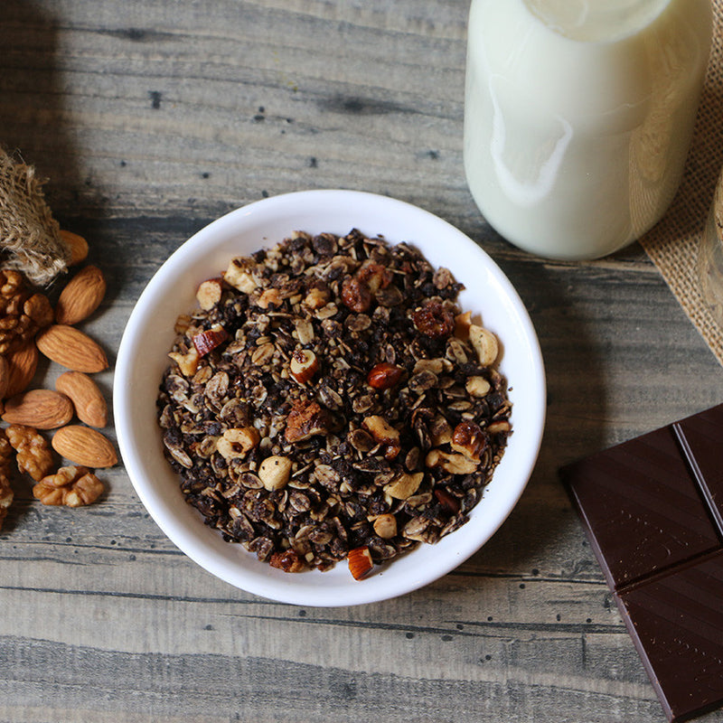 Dark Chocolate & Walnut Granola.