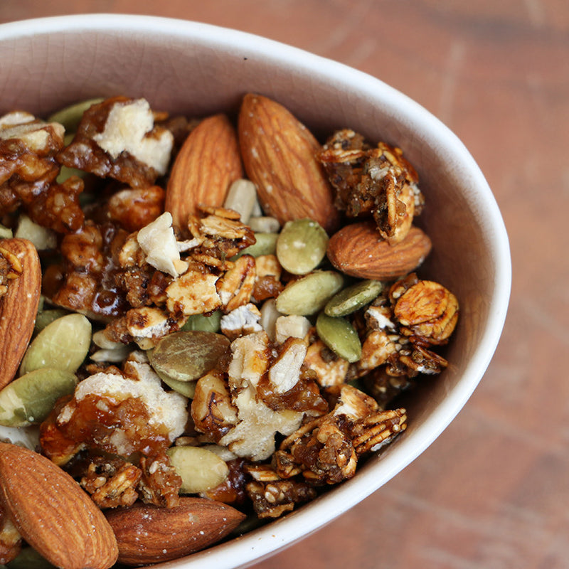Coffee Oats and Seeds Trail Mix.