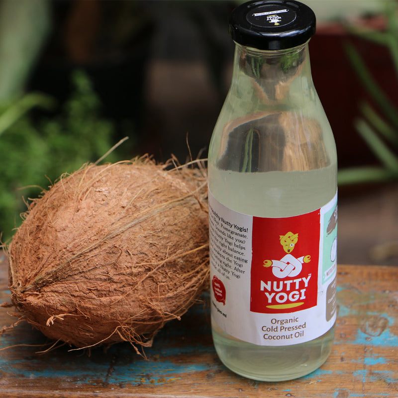 Organic Cold Pressed Coconut Oil.