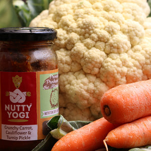 Crunchy Carrot, Cauliflower and Turnip Pickle