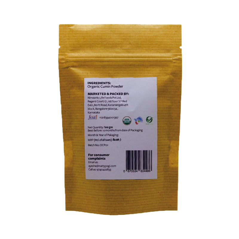Organic Cumin Seeds Powder 100gm
