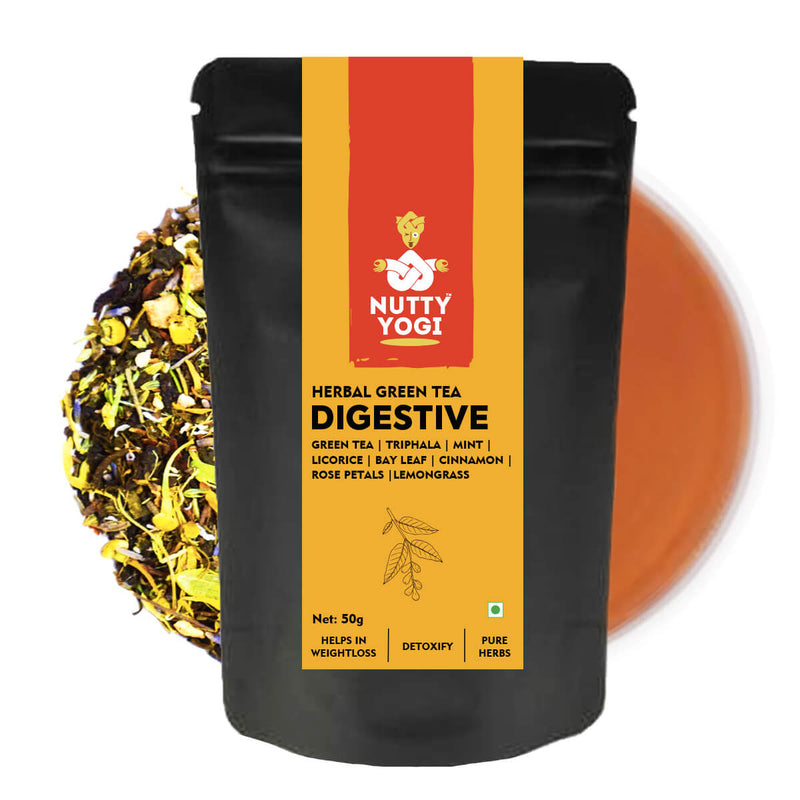 Nutty Yogi Herbal Green Digestive Tea - 50g.