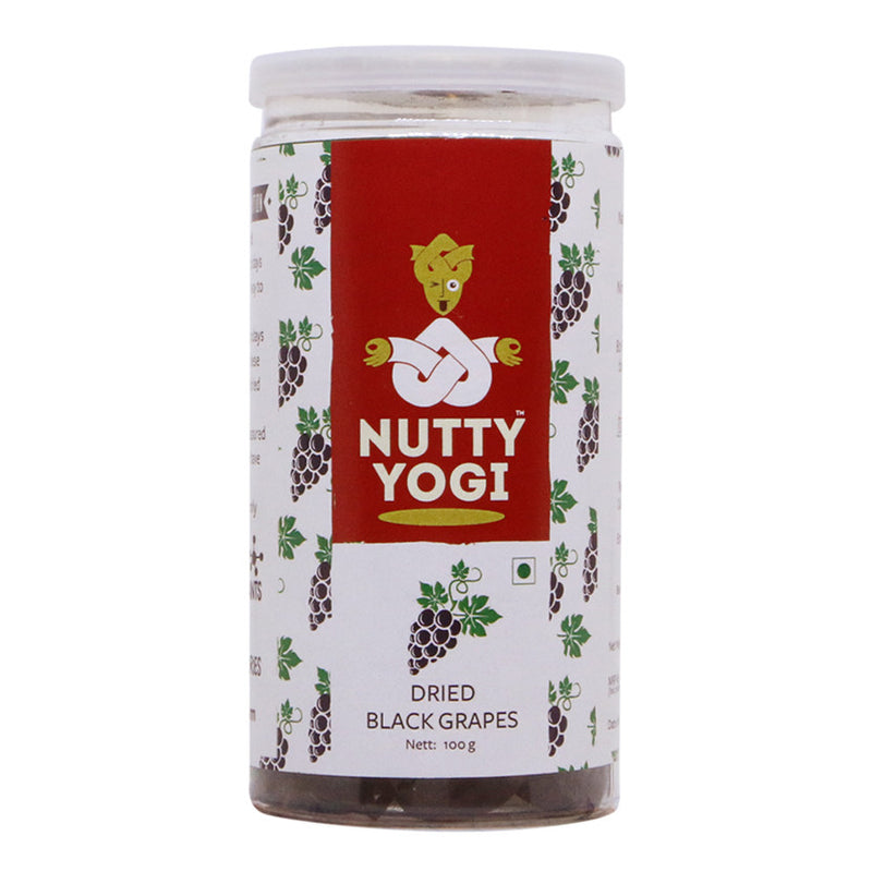 Dried Black Grapes - Nutty Yogi