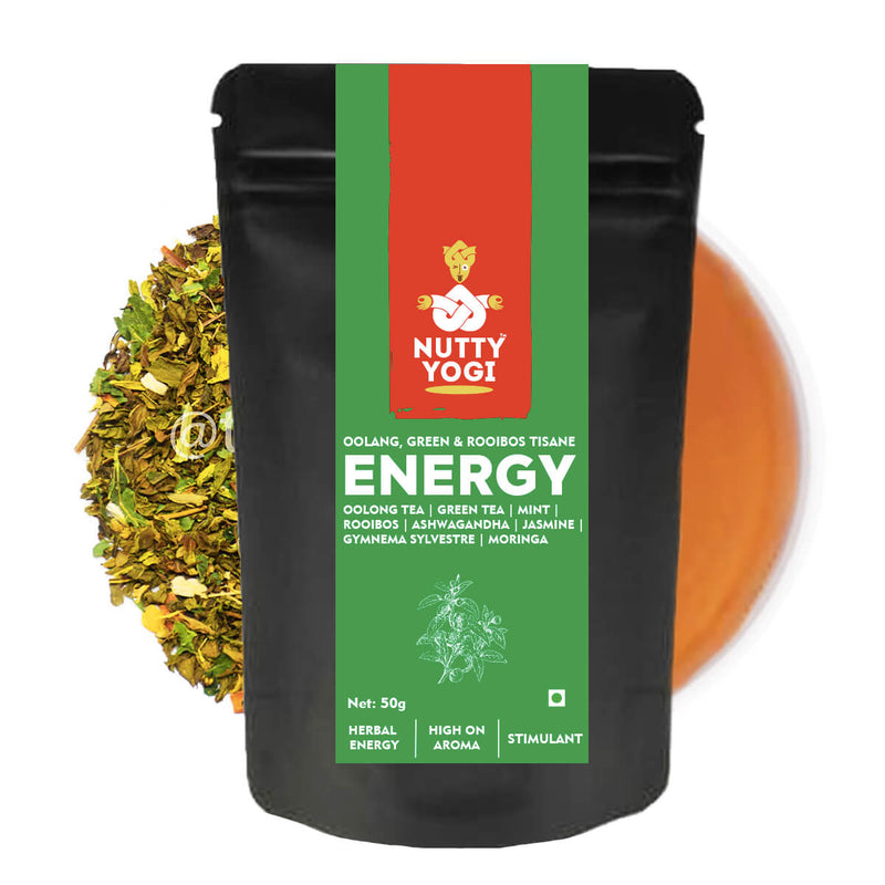 Nutty Yogi Green Energy Tea | 50g | Jasmine, Roobios, Mint and Herbs