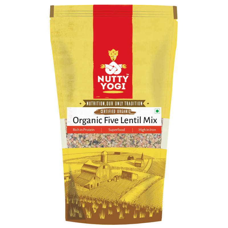 Organic Five Lentil Mix 500 gm.