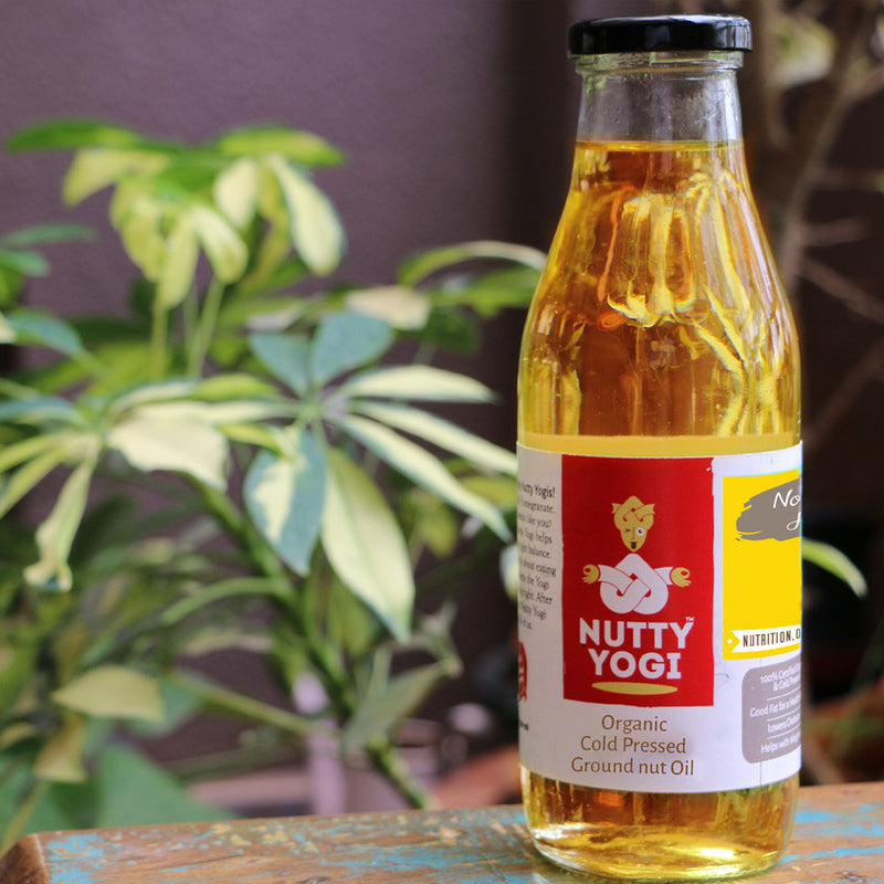 Cold Pressed Groundnut Oil.