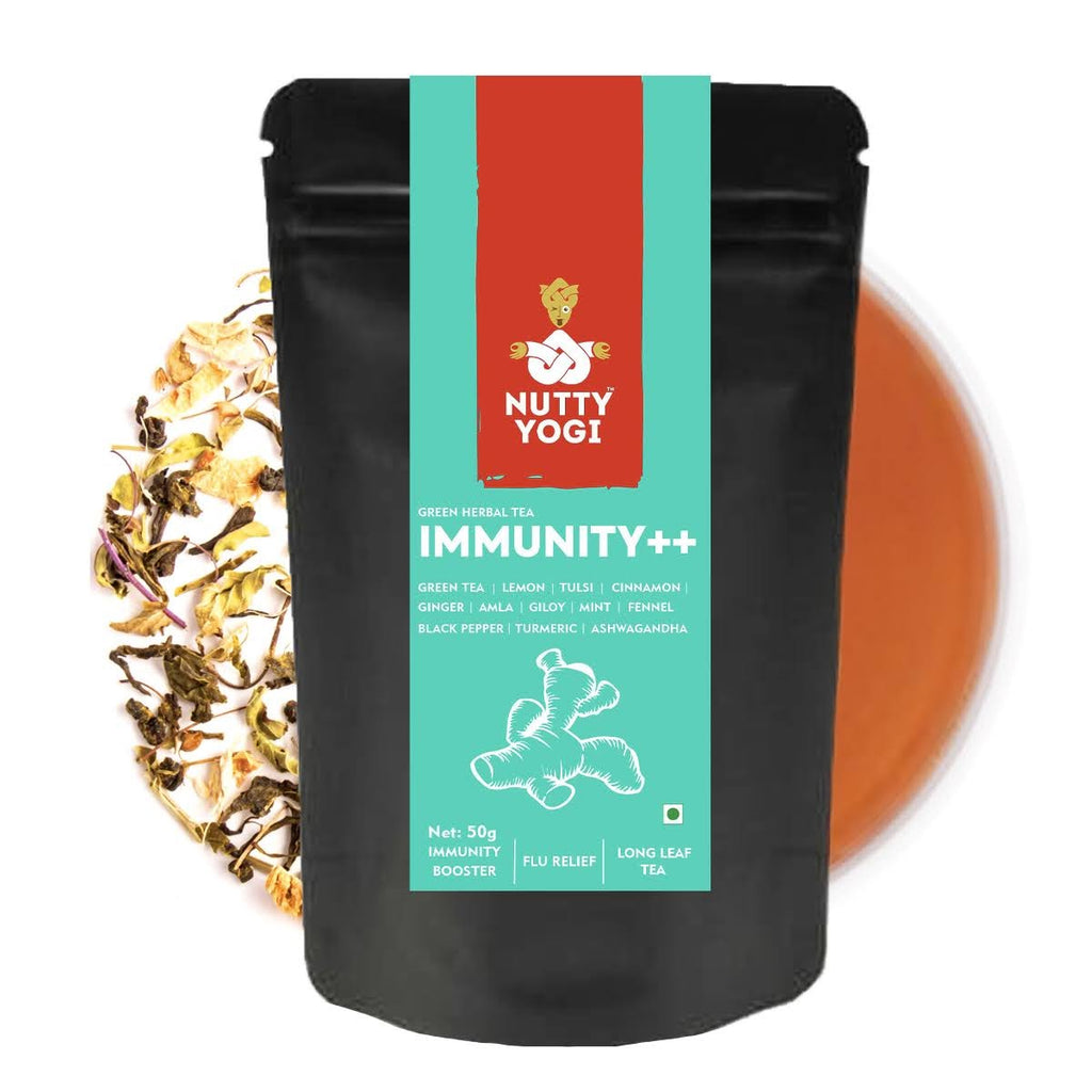 Immunity Plus Plus Tea  | Herbal Green Tea with active herbs like Giloy, Ashwangandha, Tulsi etc