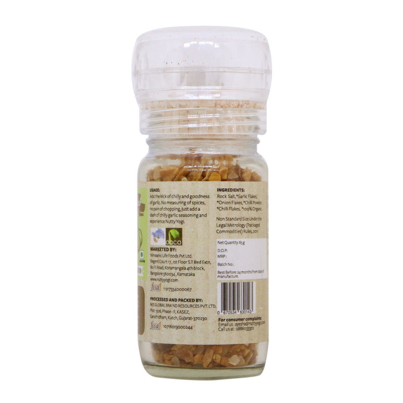 Organic Chilly Garlic Seasoning - Nutty Yogi