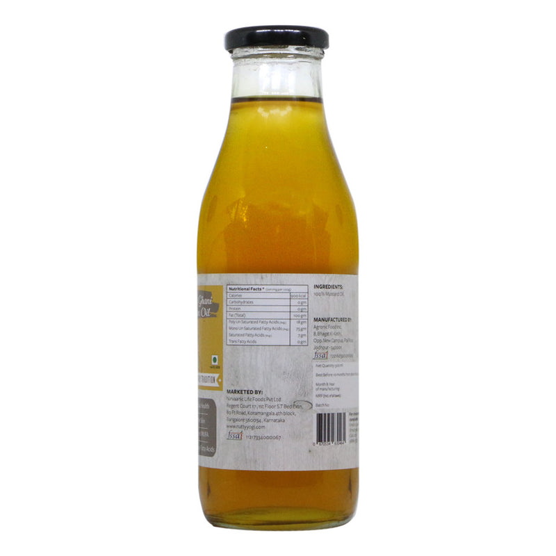 Organic Cold Pressed Mustard Oil - Nutty Yogi