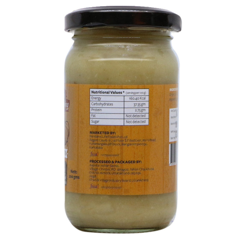 Organic Ginger Garlic Paste - Nutty Yogi