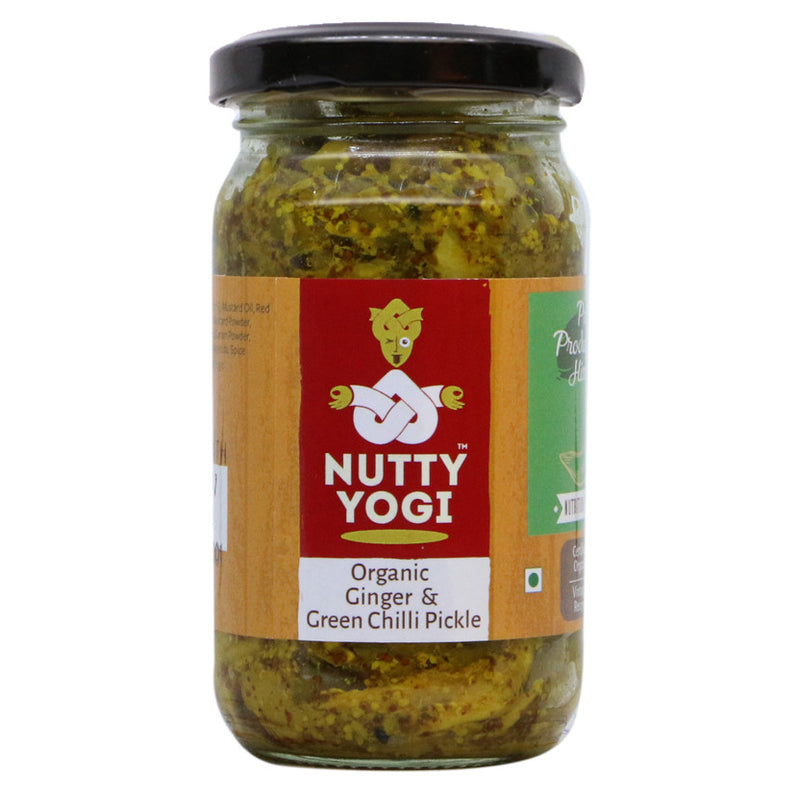 Organic Ginger & Green Chilli Pickle
