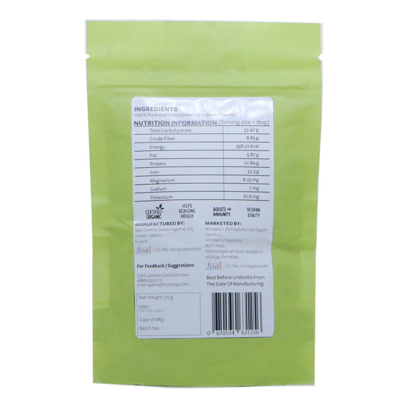 Organic Moringa  Powder.
