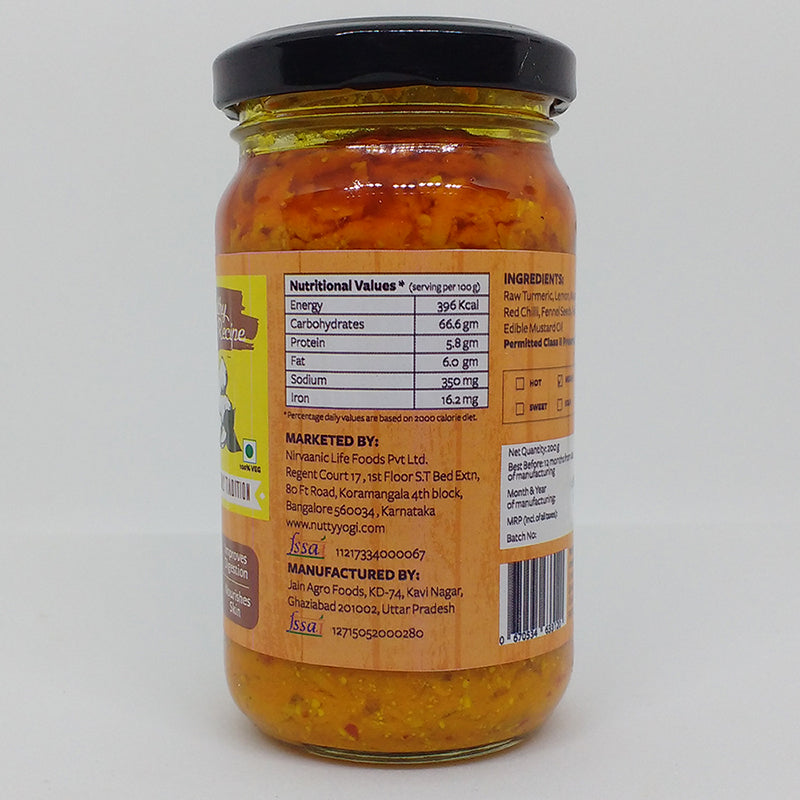 Raw Turmeric Pickle - Nutty Yogi