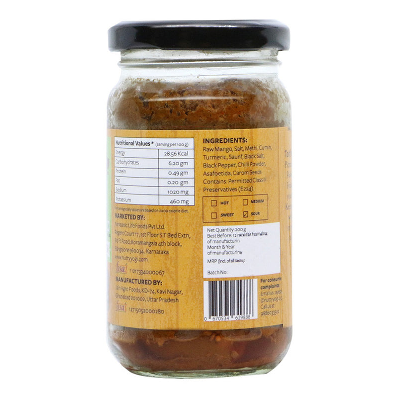 Zero Oil Mango Pickle - Nutty Yogi