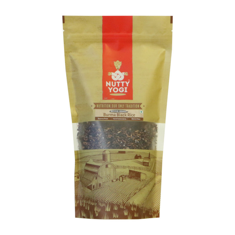 Organic Burma Black Rice - Nutty Yogi