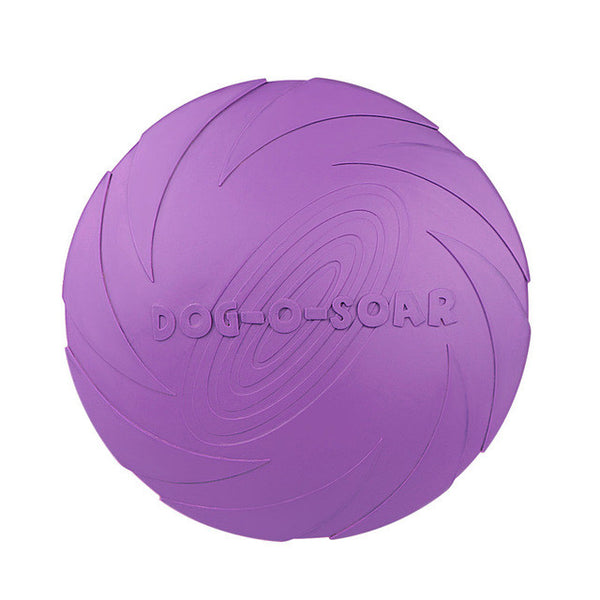 22cm Eco-friendly Pet Product Natural Rubber Material Pet Dog Toy Frisbee Dog Training Fetch Toys Dogs Training Flying