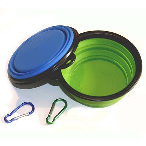 Collapsible Dog Bowl Foldable Expandable Cup Dish for Pet