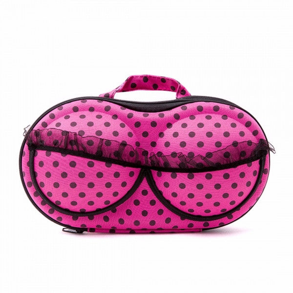 Personalized Protective Bra Case-Pink Polka