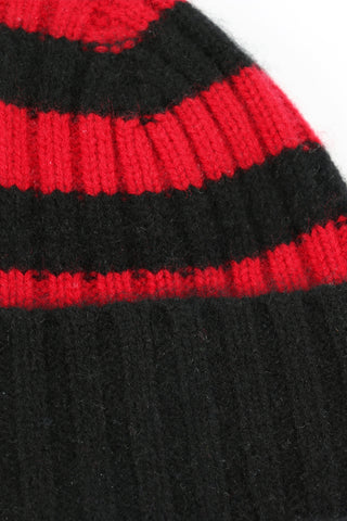 Calluna cashmere hat black/red