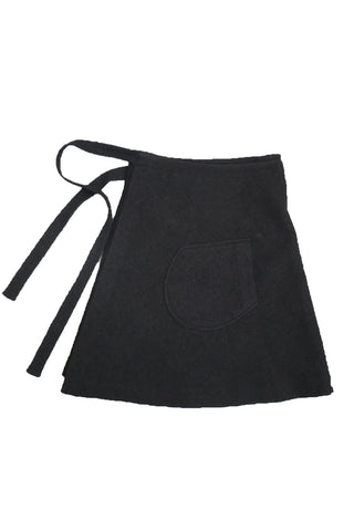 Boiled wool wrap skirt