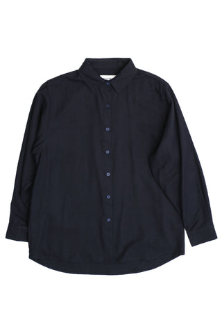 Central Silk Shirt Dark Blue