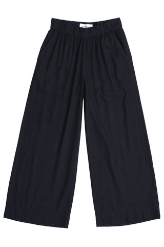 Leon silk trousers Dark Blue