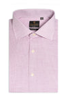 Camicia trattini bordeaux slim