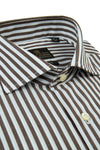 Camicia righe larghe marrone