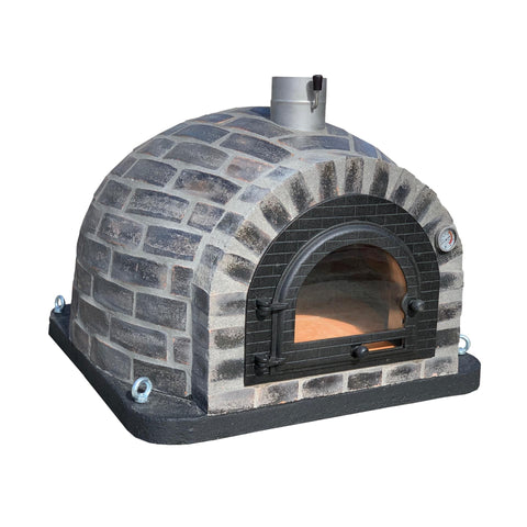 Traditional Wood Fired Brick Pizza Oven - Rústico Preto