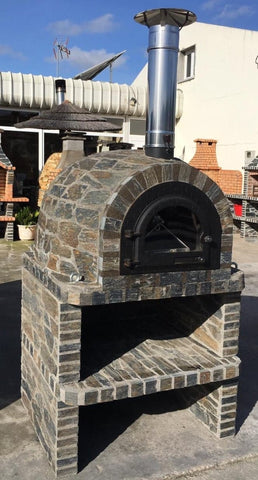 Traditional Wood Fired Brick Pizza Oven - Tuscano/Milano Stand