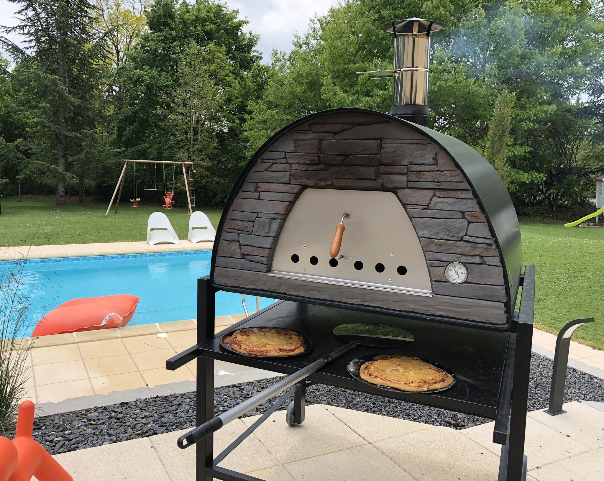 Portable Wood Fired Brick Pizza Oven - Prime Arena