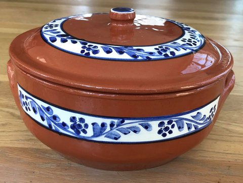 Clay Traditional Pot with Lid - Tacho Round