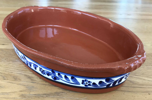 Clay Traditional Small Oval Tray - Hand painted